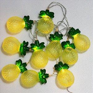 Cordão de luz de abacaxi plástico
