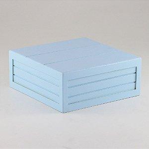 Caixa de altura com friso em MDF - Azul candy