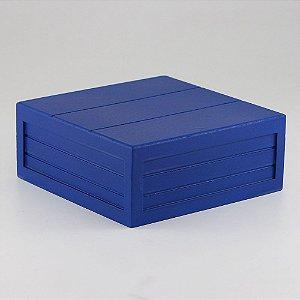 Caixa de altura com friso em MDF - Azul marinho