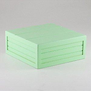 Caixa de altura com friso em MDF - Verde candy