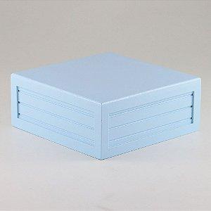 Caixa de altura lisa em MDF - Azul candy