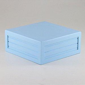 Caixa de altura lisa em MDF - Azul bebê