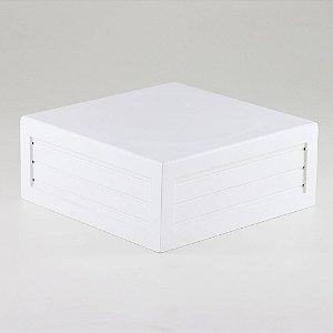 Caixa de altura lisa em MDF - Branco
