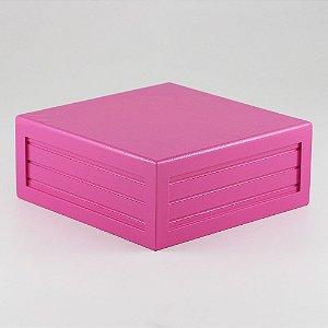 Caixa de altura lisa em MDF - Pink