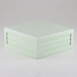 Caixa de altura lisa em MDF - Verde candy