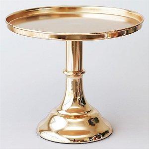 Boleira de Metal Lisa - Cor de Ouro