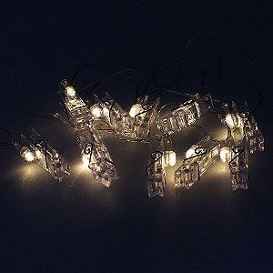 Cordão de Luz pregador LED - A pilha