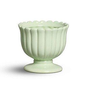 Cachepot médio verde algodão doce