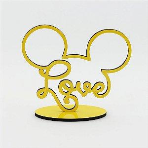 Letreiro Mickey Love - Amarelo