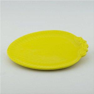 Prato Oval amarelo - grande (26x33cm)