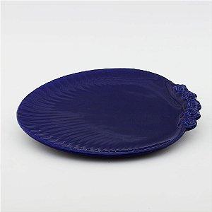 Prato Oval azul marinho - grande (26x33cm)