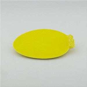 Prato Oval amarelo - pequeno (21x27cm)