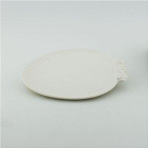 Prato Oval branco - pequeno (21x27cm)