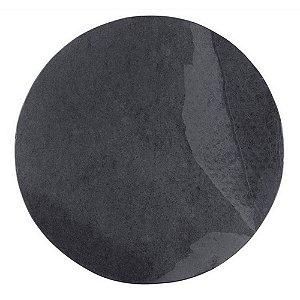 Prato redondo em Ardósia - Acabamento Liso (31cm)