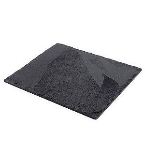 Prato Retangular em Ardósia - Acabamento Rústico (20x25cm)