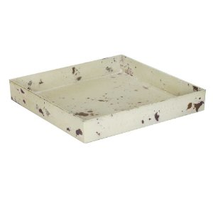 Bandeja Ferrugem quadrada - Bege (4x25x25cm)