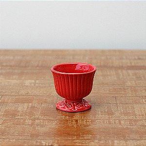 Cachepot canelado vermelho P (9x9cm)