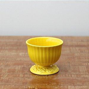 Cachepot canelado amarelo M (11x13cm)