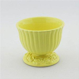 Cachepot canelado amarelo claro M (11x13cm)