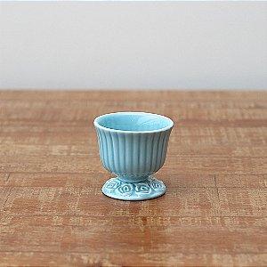 Cachepot canelado azul P (9x9cm)