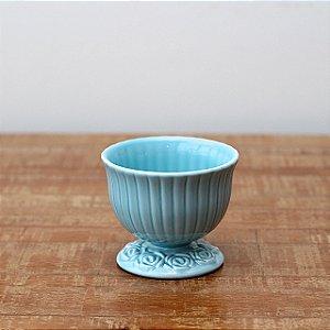 Cachepot canelado azul M (11x13cm)