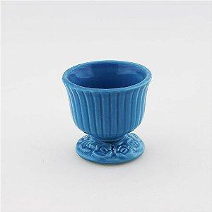 Cachepot canelado azul mar P (9x9cm)
