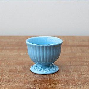 Cachepot canelado azul bebê M (11x13cm)