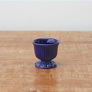 Cachepot canelado azul marinho P (9x9cm)