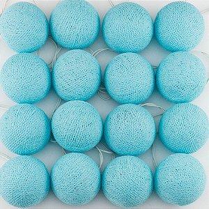 Cordão de Luz Cotton - Azul Bebê (110V)