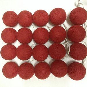 Cordão de Luz Cotton - Vermelho (110V)