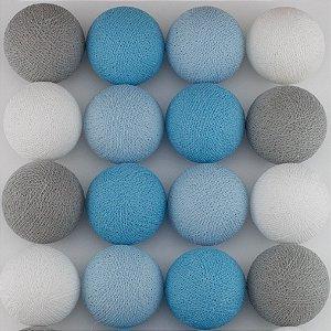 Cordão de Luz LED - Tons de Azul, Cinza e Branco (110V)