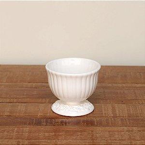 Cachepot canelado branco M (11x13cm)