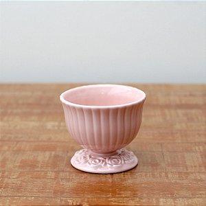 Cachepot canelado rosa M (11x13cm)