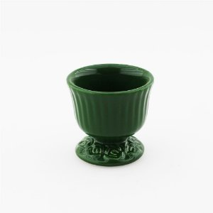 Cachepot canelado verde escuro P (9x9cm)