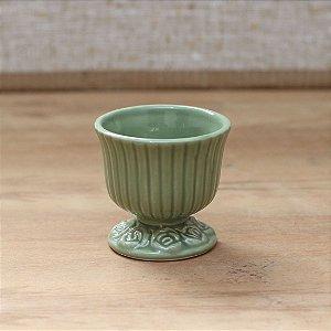 Cachepot canelado verde oliva P (9x9cm)