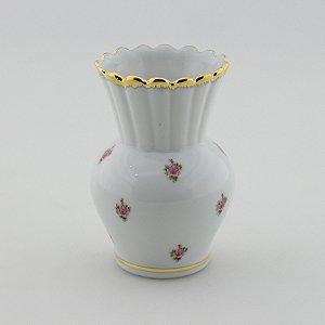 Vaso Retrô Florido - Rosa pequena