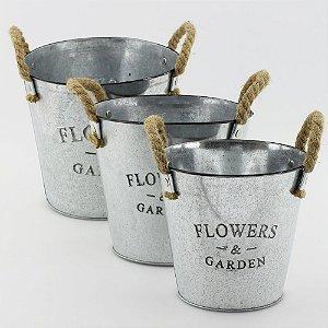 Cachepot Flower & Garden - zinco