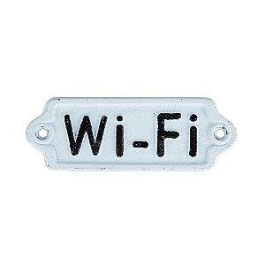 Chapa de metal Wi-Fi