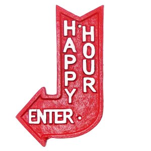 Chapa de metal Happy Hour
