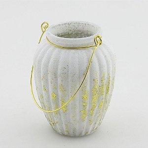 Vaso com alça bojudo (8x10cm)