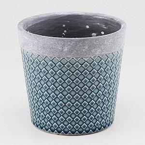 Vaso Textura Losango - Azul