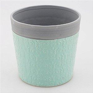 Cachepot Verde água 14x15cm