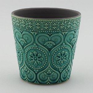 Vaso Textura Coração Tiffany
