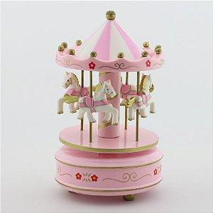 Carrossel Rosa - Pequeno com flor