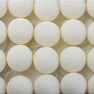 Cordão de Luz Cotton Branco Cru