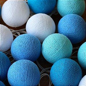 Cordão de Luz Cotton Tons de Azul