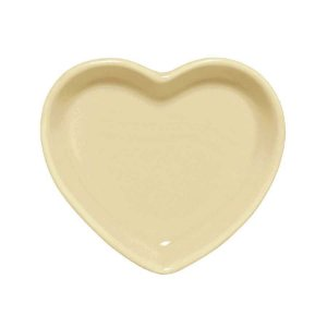 Travessa coração Amarela M (18x16cm)