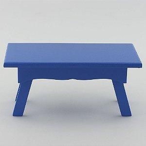 Banquinho Retangular em MDF - Azul royal