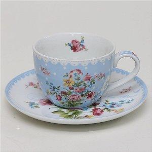 Xícara de chá Le Jardin Secret - Azul