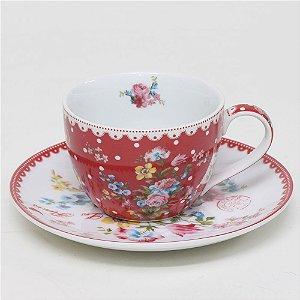 Xícara de chá Le Jardin Secret - Vermelha